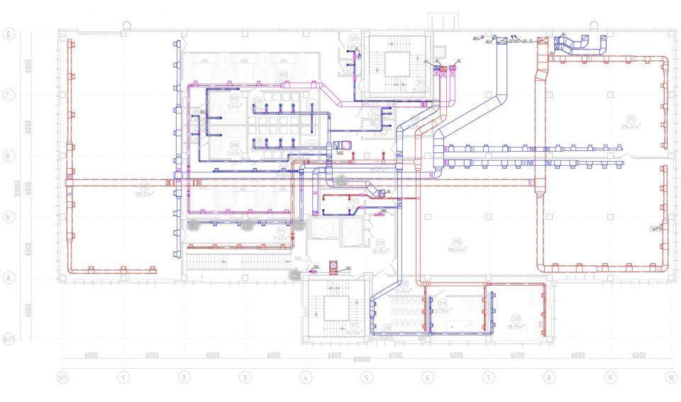 Схема вентиляции 2-го этажа